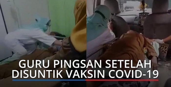 Viral Video Guru Tiba-tiba Pingsan Usai Vaksin: Ambil Napas Ya Buk, Semangat Buk, Pasti Bisa